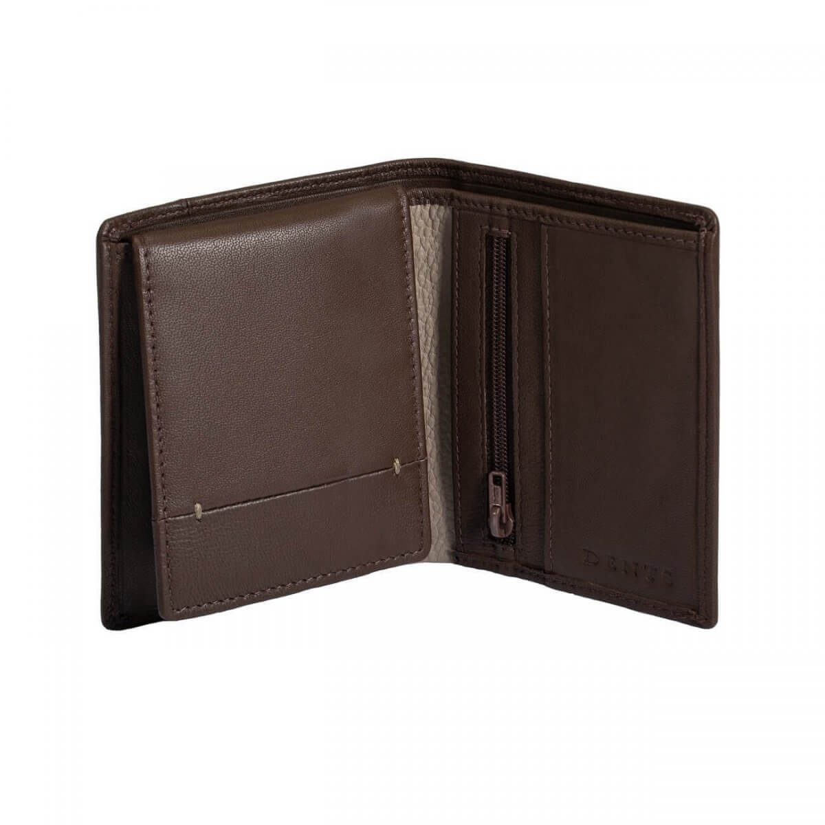 Dents Leather Card Holder in Brown