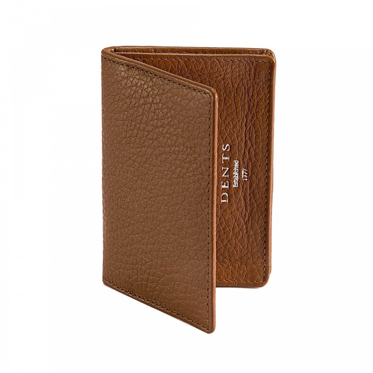 Dents Brown Leather Card Holder