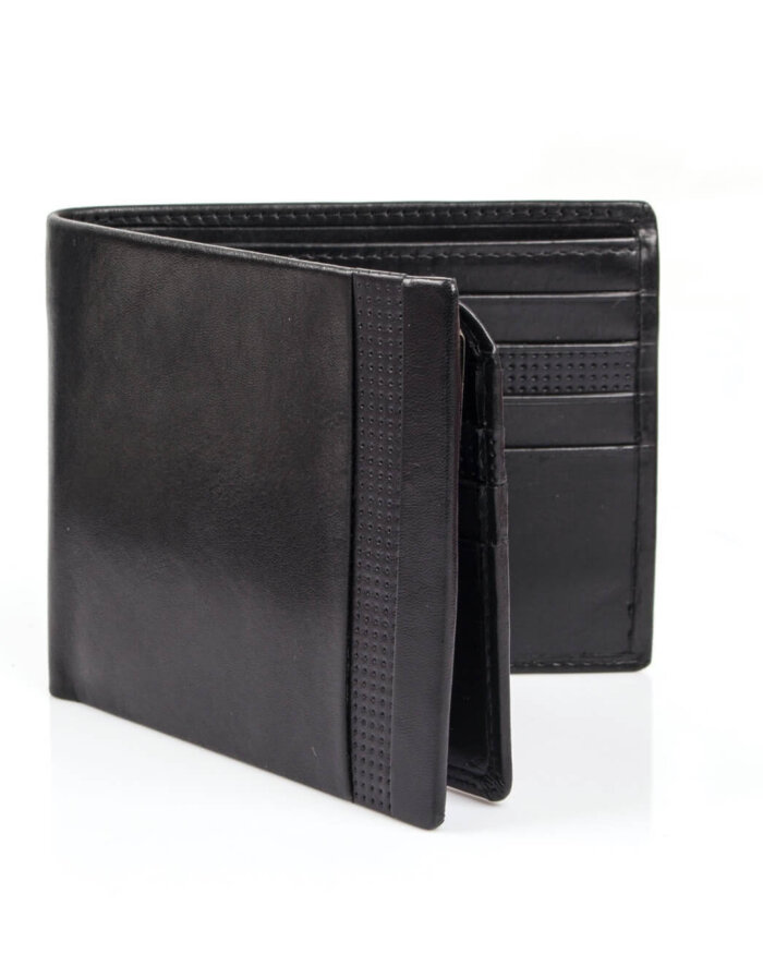 Dents Black Leather Wallet