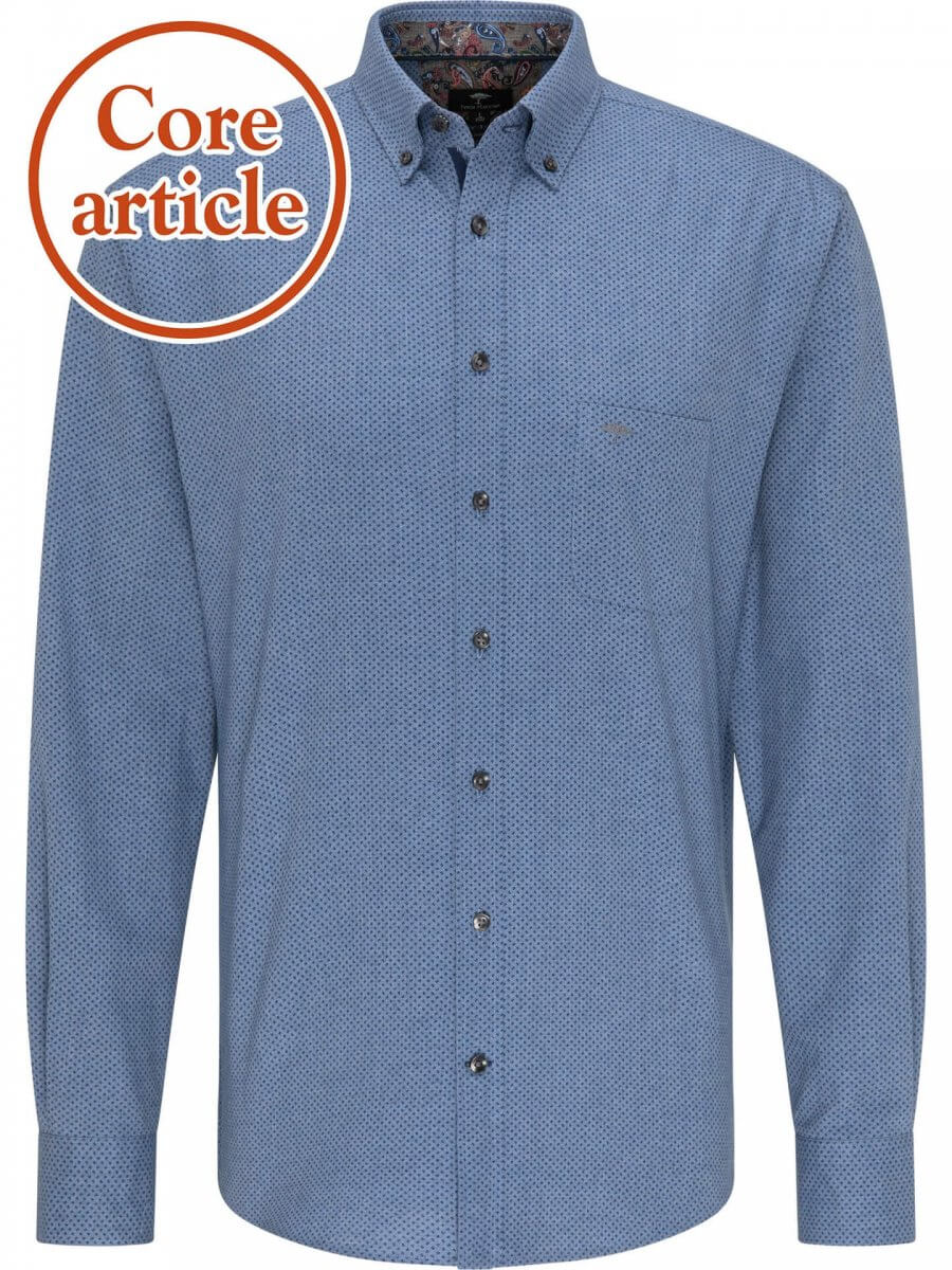 Fynch Hatton Blue Shirt with Pattern