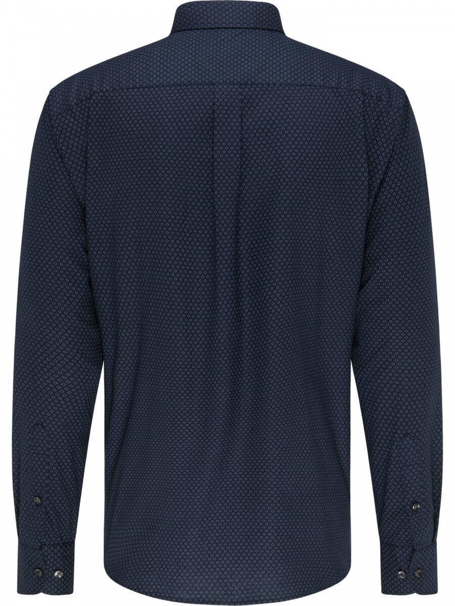 Fynch Hatton Navy Shirt with Pattern