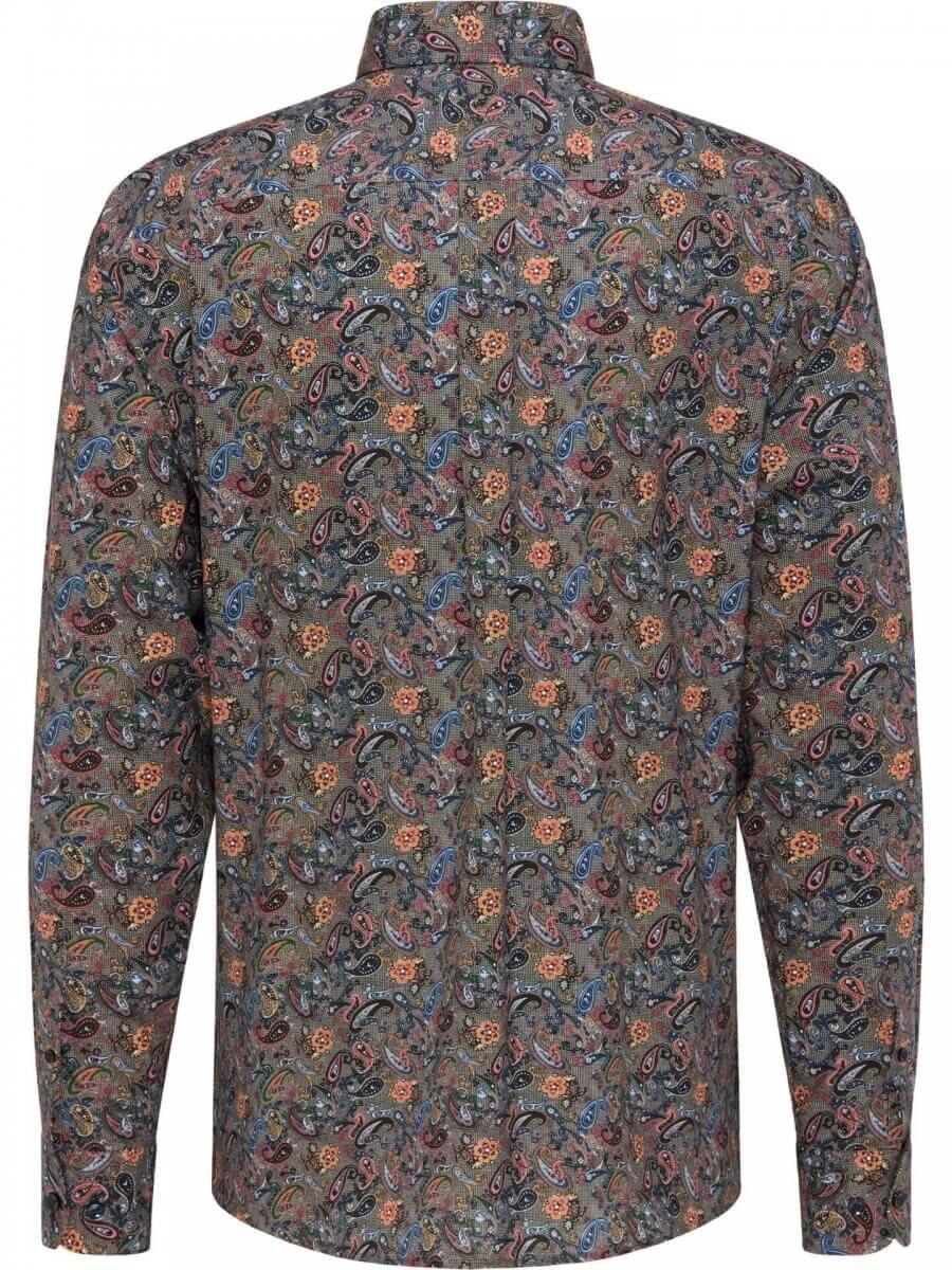 Patterned Fynch Hatton Long Sleeve Shirt