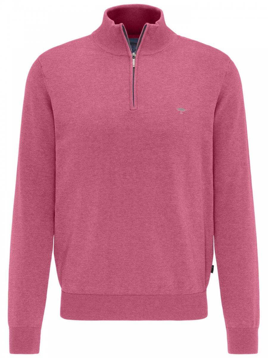 Fynch Hatton Quarter Zip Jacket in Pink