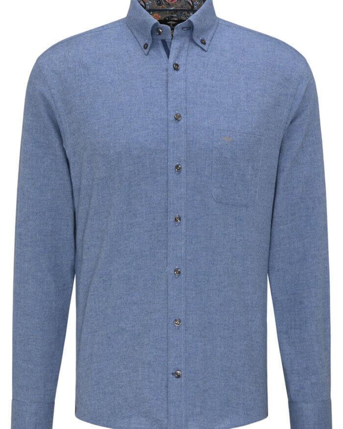 Fynch Hatton Flannel Shirt in Blue