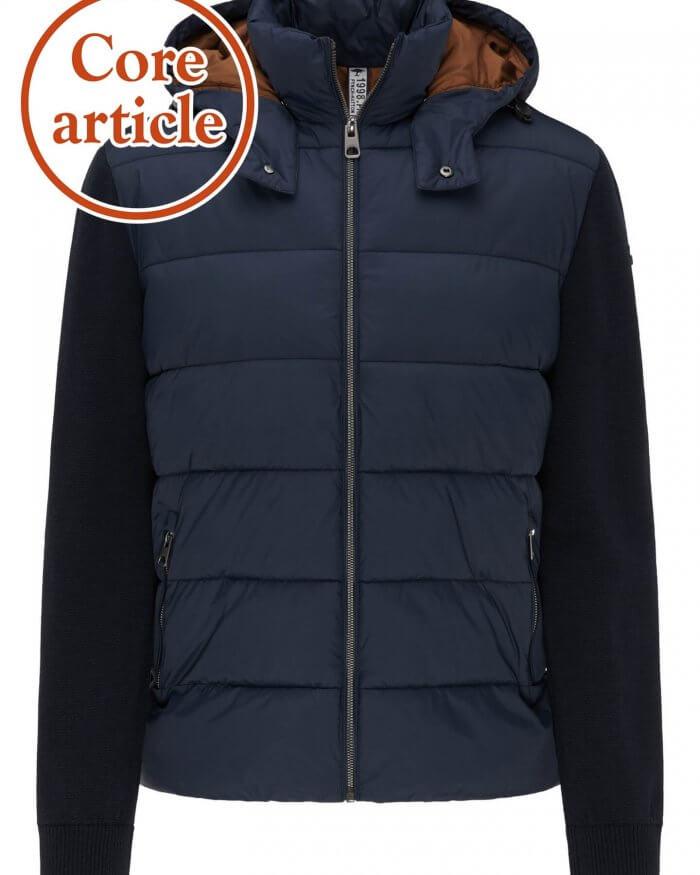 Fynch Hatton Hybrid Jacket with Hood