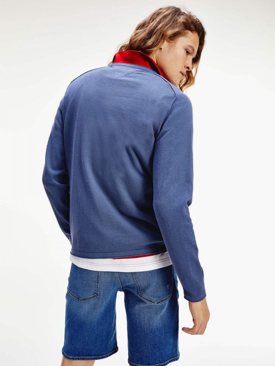 Model Wearing Tommy Hilfiger Jumper & Shorts