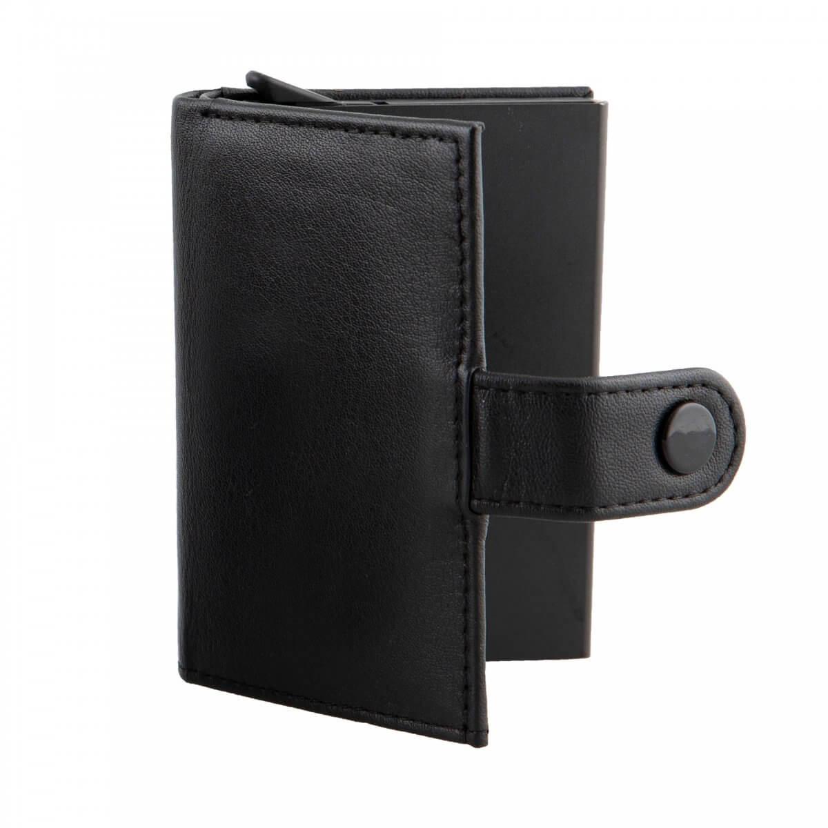 Dents Black Leather Cardholder Wallet