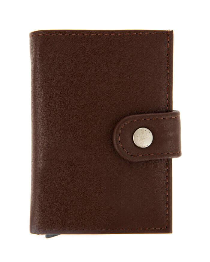 Dents Brown Leather Cardholder Wallet