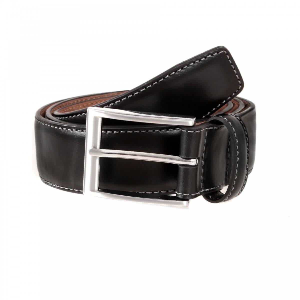 Dents Black Leather Belt