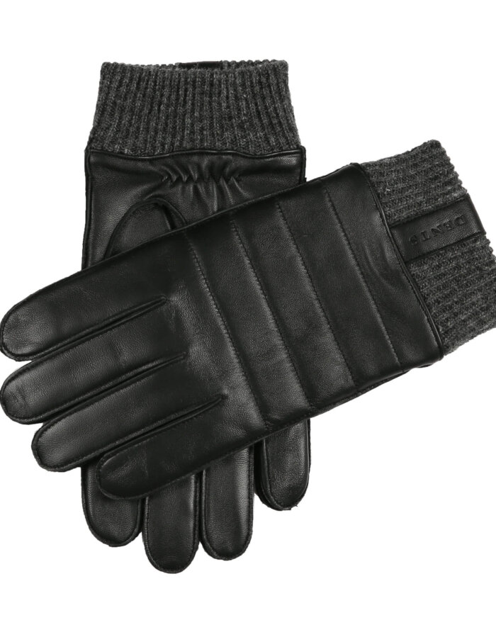 Dents Black Leather Gloves