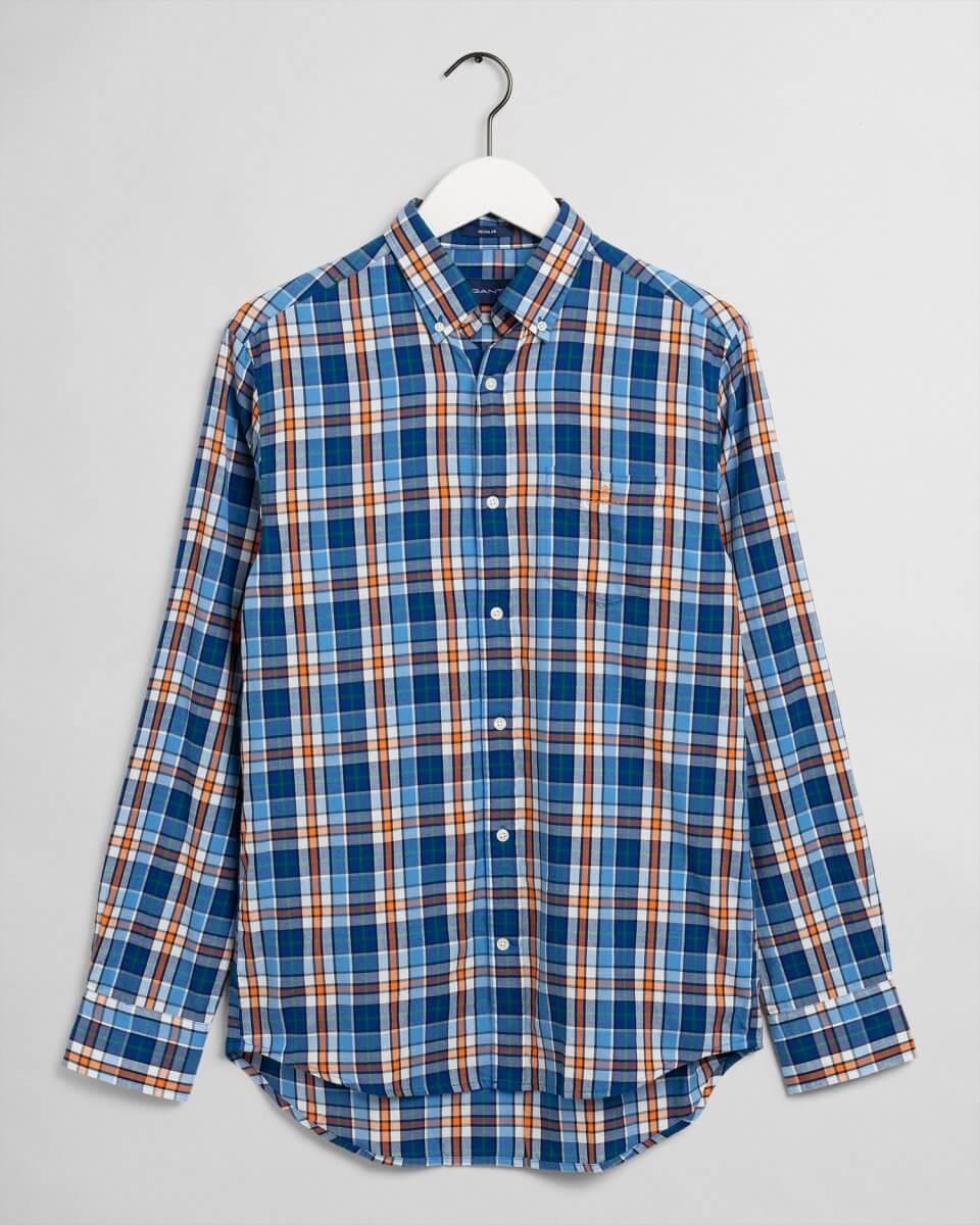 Gant Checkered Shirt in Blue & Orange
