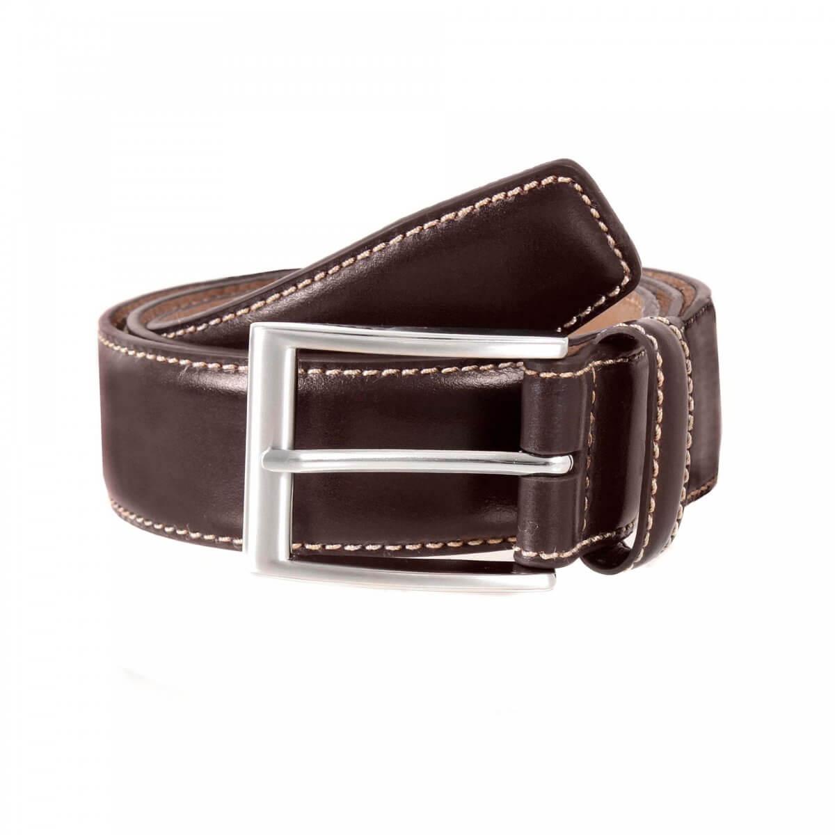 Dents Brown Leather Belt