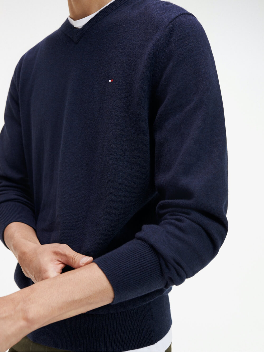 Tommy Hilfiger Pima Cotton/Cashmere Crew Neck