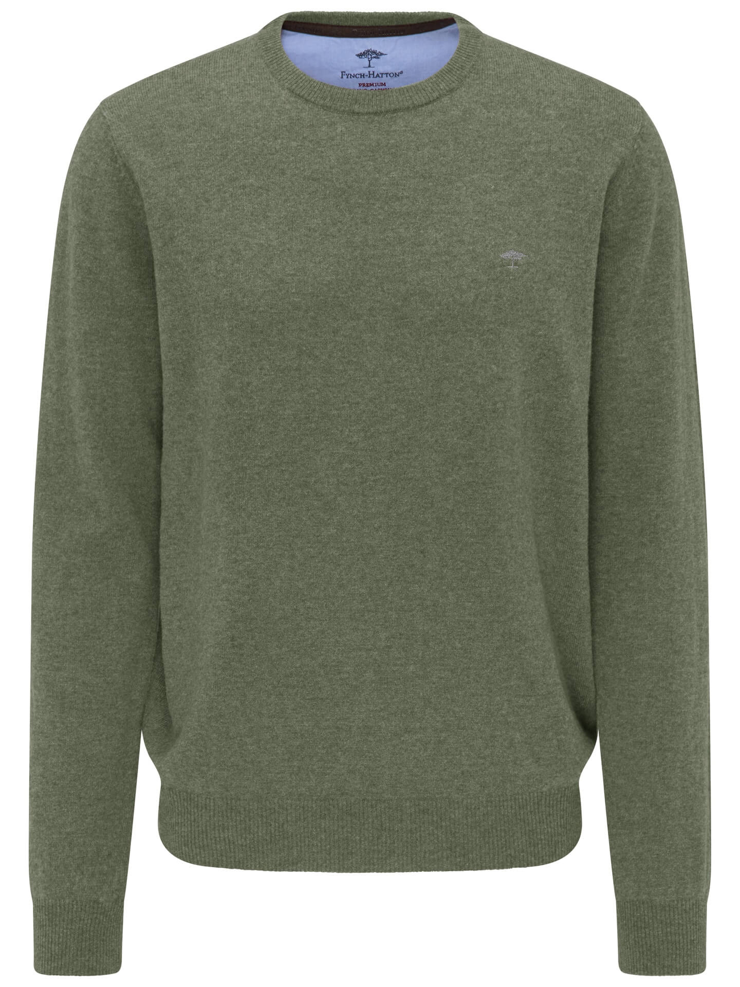 Fynch Hatton Merino/Cashmere O Neck Jumper