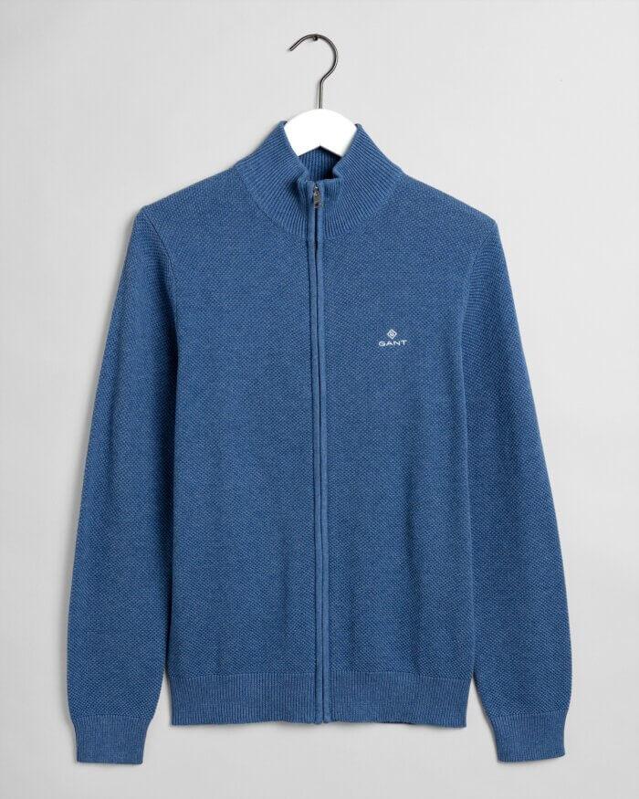 Gant Full-Zip Knitted Jumper