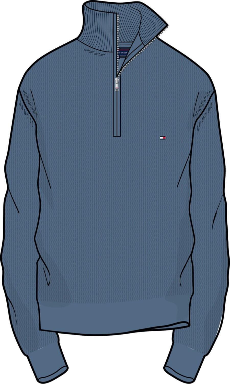 Graphic Design of Half Zip Tommy Hilfiger Jumper