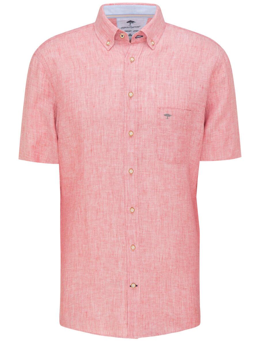 Fynch Hatton Short Sleeve Linen Shirt