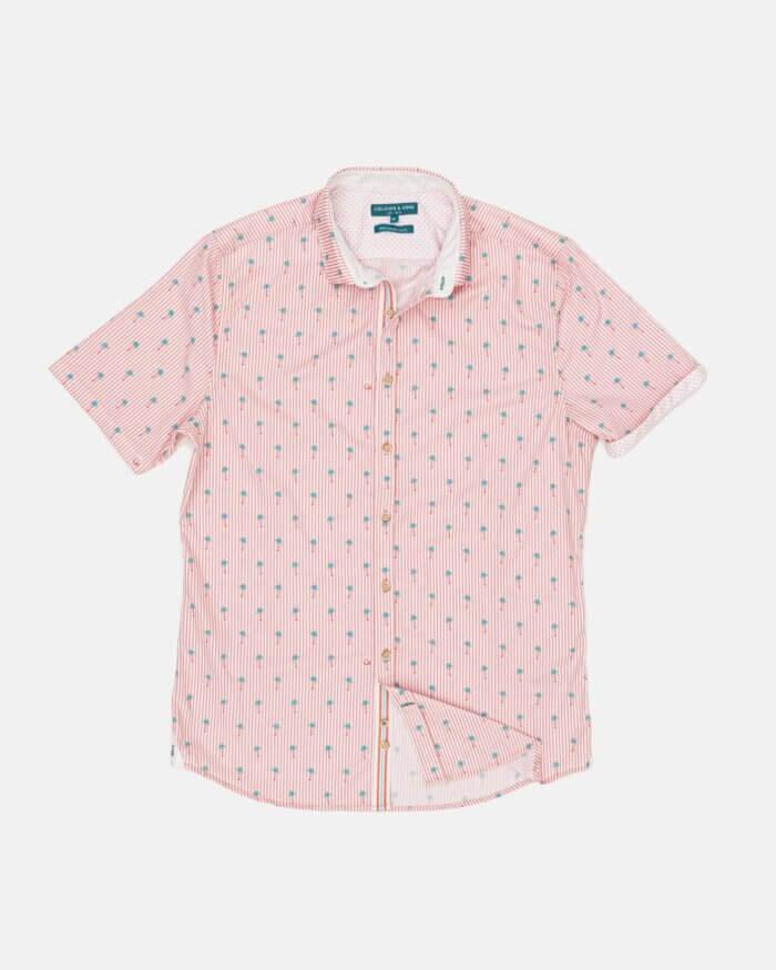 Colours & Sons Palm Tree Short Sleeve Shirt