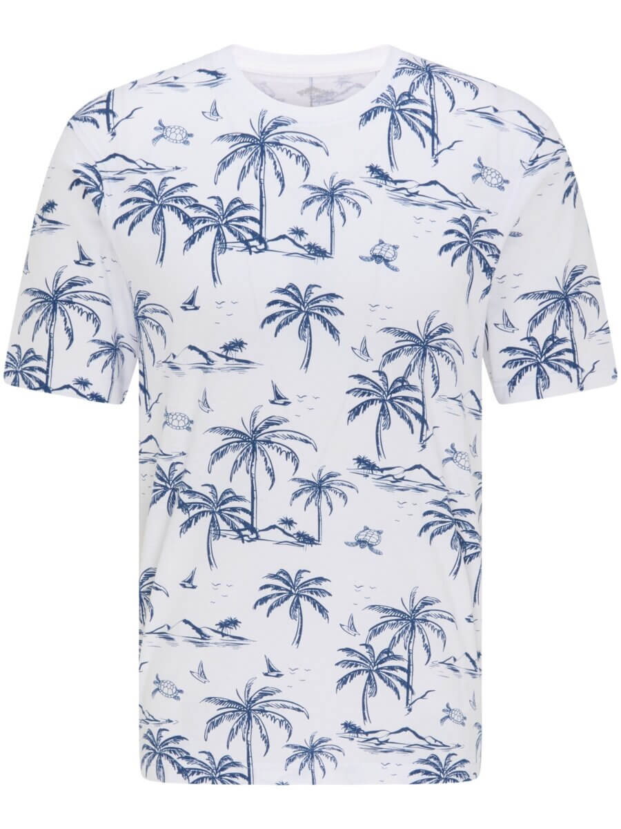 Fynch Hatton Palm Tree T-Shirt